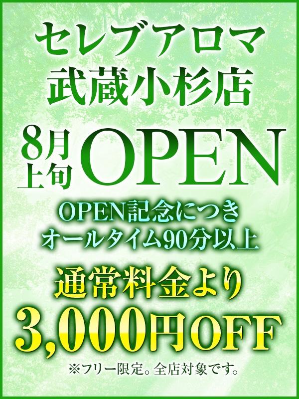 8月武蔵小杉店オープン