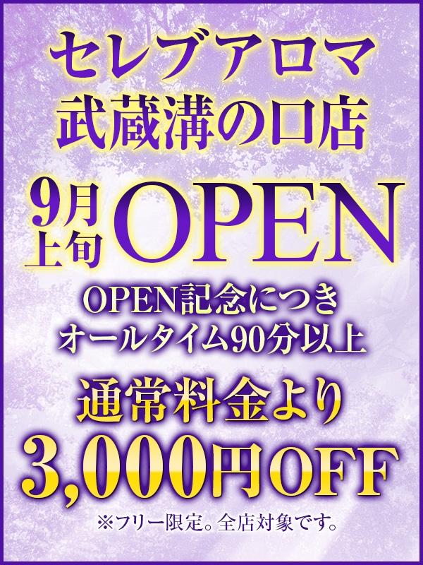 武蔵溝の口店オープン記念!!全店フリー限定割引サービス